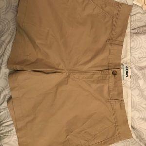 Old navy tan shorts size 16